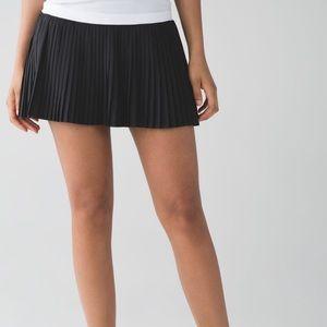Lululemon Pleat to Street Pleated Black Skirt